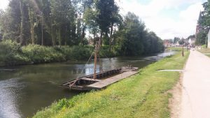 A river barge