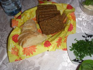 Krakow hospitality (bread and chives!)