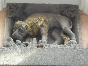 Krakow: another lion