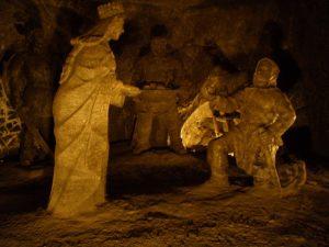 Krakow salt mines: sculpture of (what?) historical incident