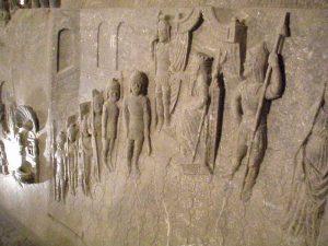 Krakow salt mines: (salt) wall carvings