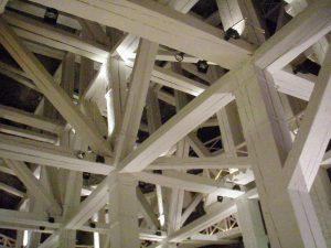 Krakow salt mines: typical wooden shoring structures