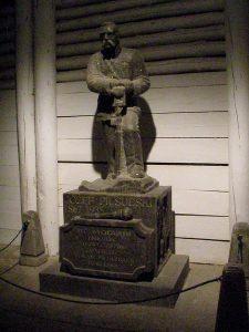 Krakow salt mines: commemorative sculpture of miner (1867-1935)