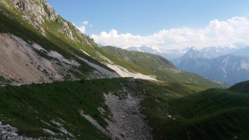 "The ""road"" down towards Champagny"
